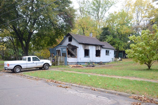 Fire destroyed the Battle Creek home of Dwayne Paul Tuesday.