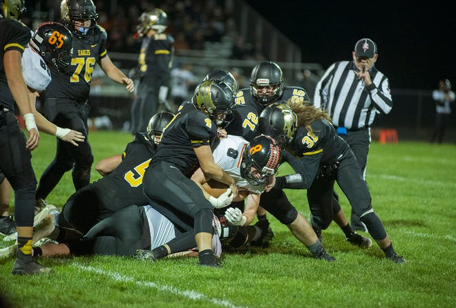 Colonel Crawford's front seven will face their toughest task of the season against Liberty Center's Max Phillips.