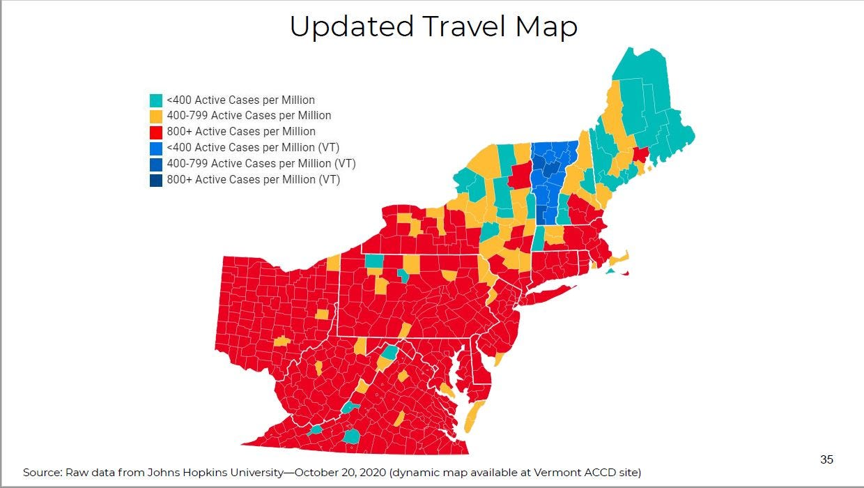 Image of: Covid 19 In Vermont These Counties Can Still Visit Without Quarantine