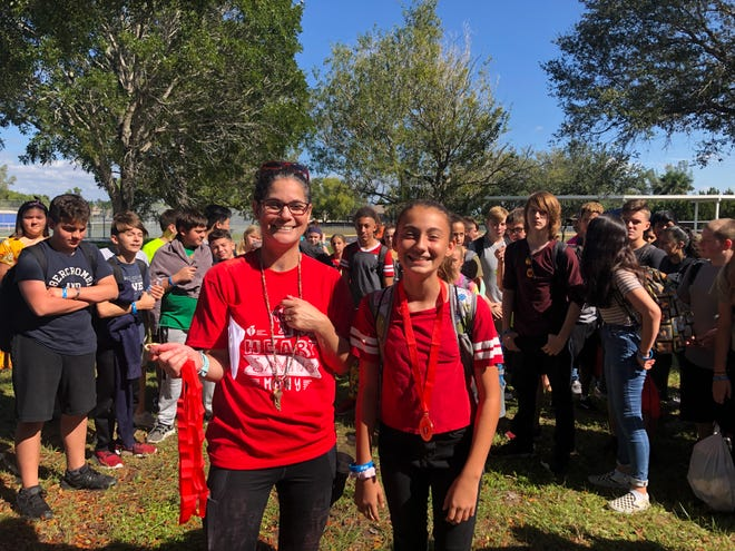 Emma Winfield, assistant principal at Gulf Middle School,  started three programs at the school and earned an award as Outstanding American Heart Challenge Coordinator.