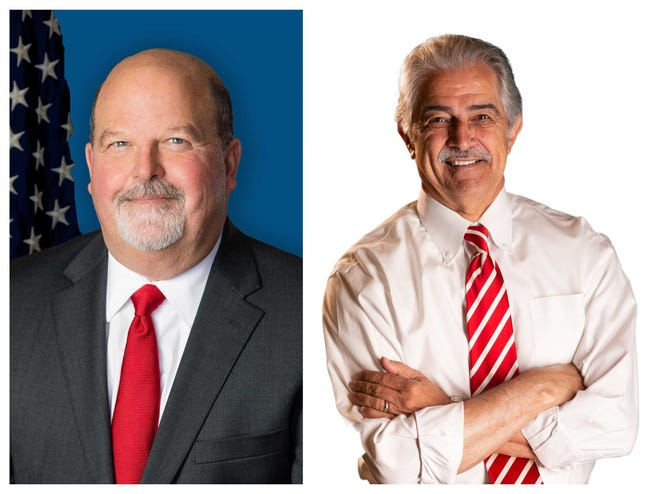 """Candidates for 15th Judicial District Attorney Daniel """"Danny"""" Landry III, left, and Donald """"Don"""" Landry"""