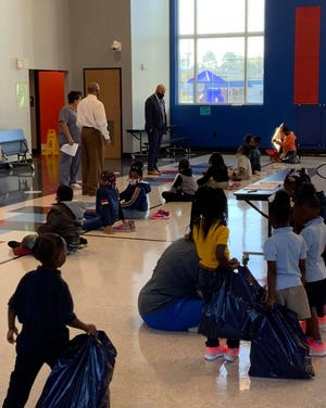 More than 80 pairs of tennis shoes were donated to Barkdull Faulk Elementary students thanks to an anonymous donor and Fleet Feet Monroe. Monroe Mayor Friday Ellis worked to address the need in the community.