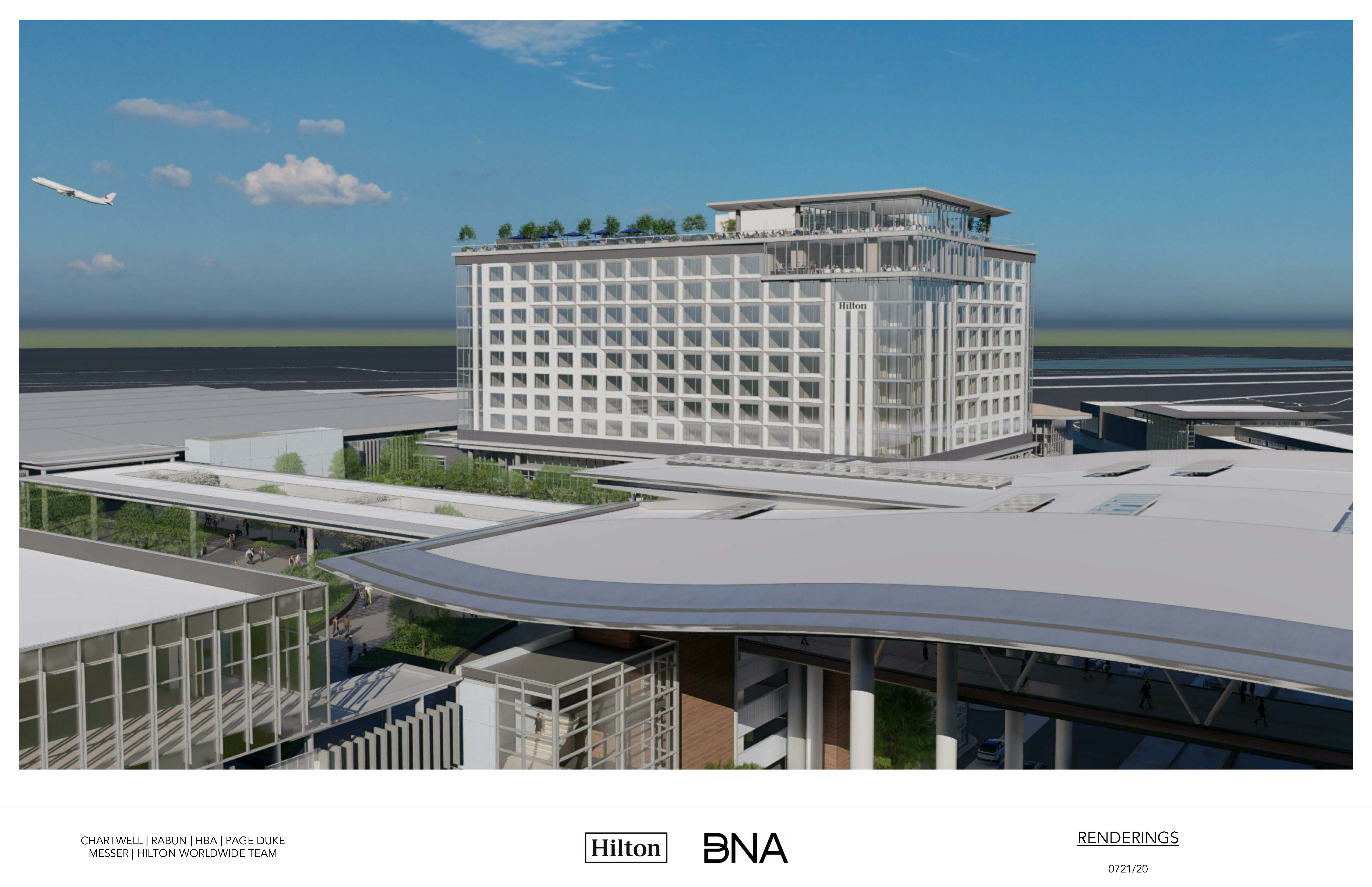 Nashville Airport Authority approves first on-site hotel, releases design images