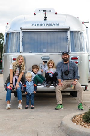 Pictured left to right: Ellie, Rivers, Huck, Emmylou and Drew Holcomb