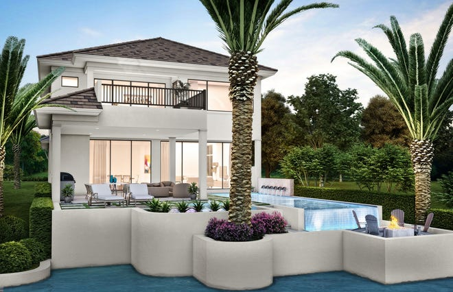 Priced at $3.995 million furnished, Seagate Development Group's two-story, 4,414 square feet under air Monterey model in Isola Bella at Talis Park is now open for viewing and purchase.