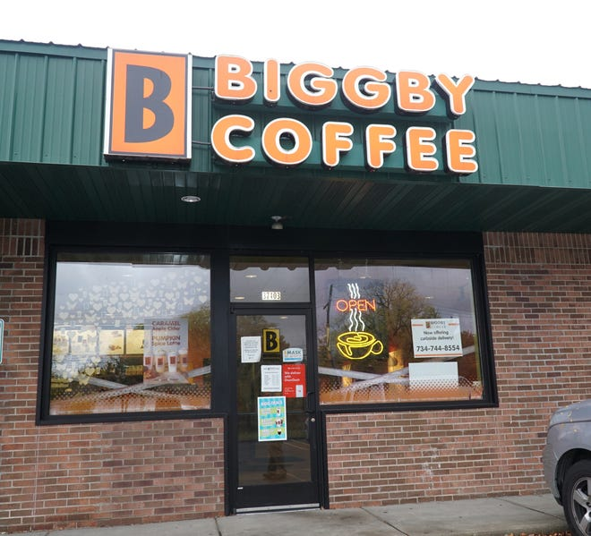 A Biggby Coffee at 37403 Ann Arbor Road in Livonia.