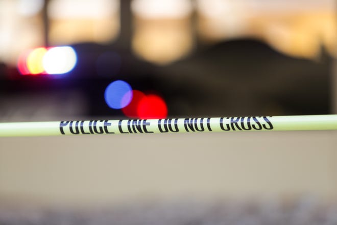 A portion of Gene Autry Road in Palm Springs was closed in both directions Thursday night following a traffic collision, according to police.