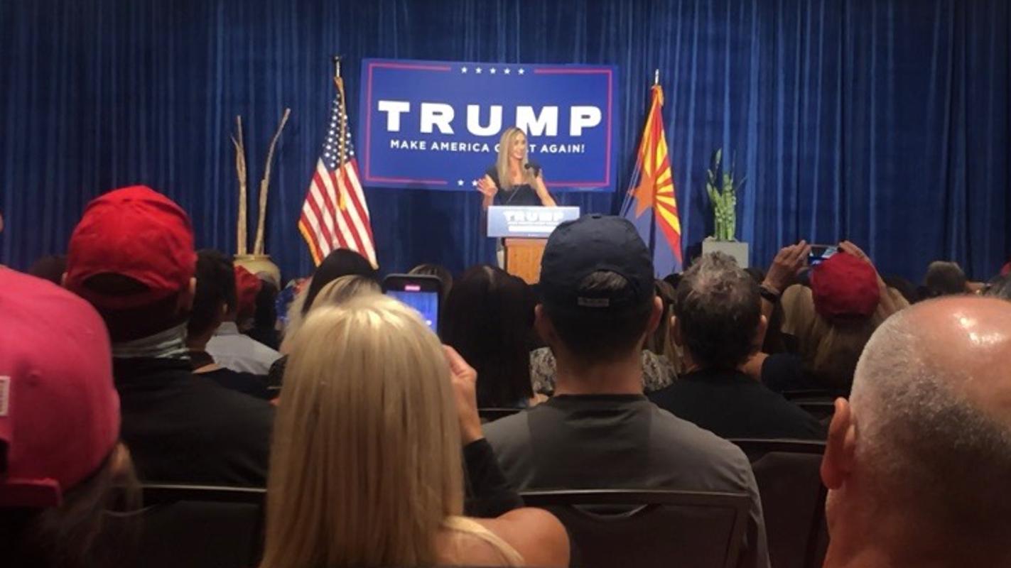 Trump's daughter-in-law Lara Trump speaks to about 200 inside Scottsdale resort