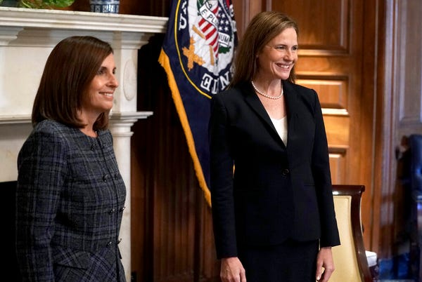 'She is a gift to our country': Sen. Martha McSally meets with Amy Coney Barrett, will vote to confirm her