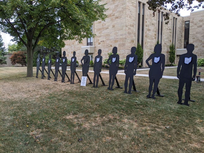 While the Overdose Awareness Day in Ottawa County was virtual this year, these silhouettes representing locals who have died from drug overdoses will still be displayed outside of the courthouse in Port Clinton.