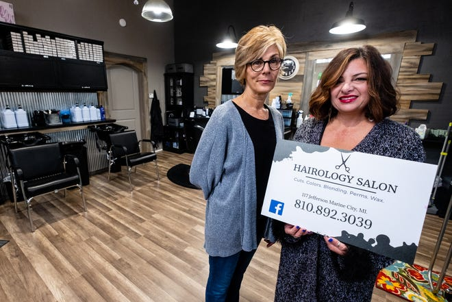 Business partners Letty Bole and Tammie Dalke opened Hairology Salon in Marine City after they found out the salon they worked at, Salon 832, would be closing in October.