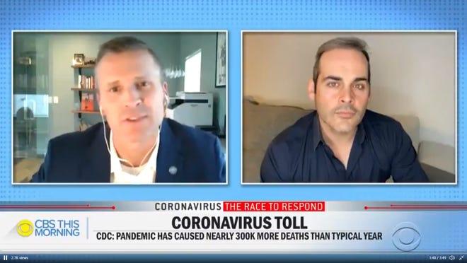 Paul TenHaken is interviewed by CBS' David Begnaud.