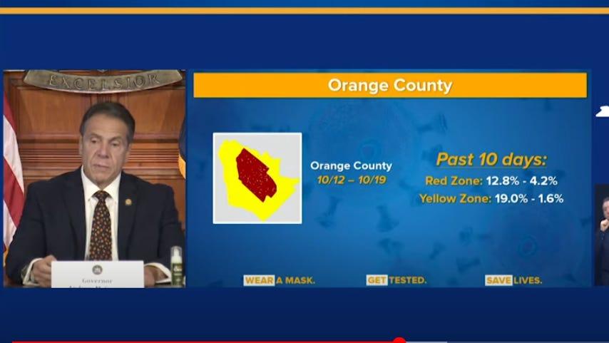 NY keeps coronavirus red zones in Rockland and Orange County