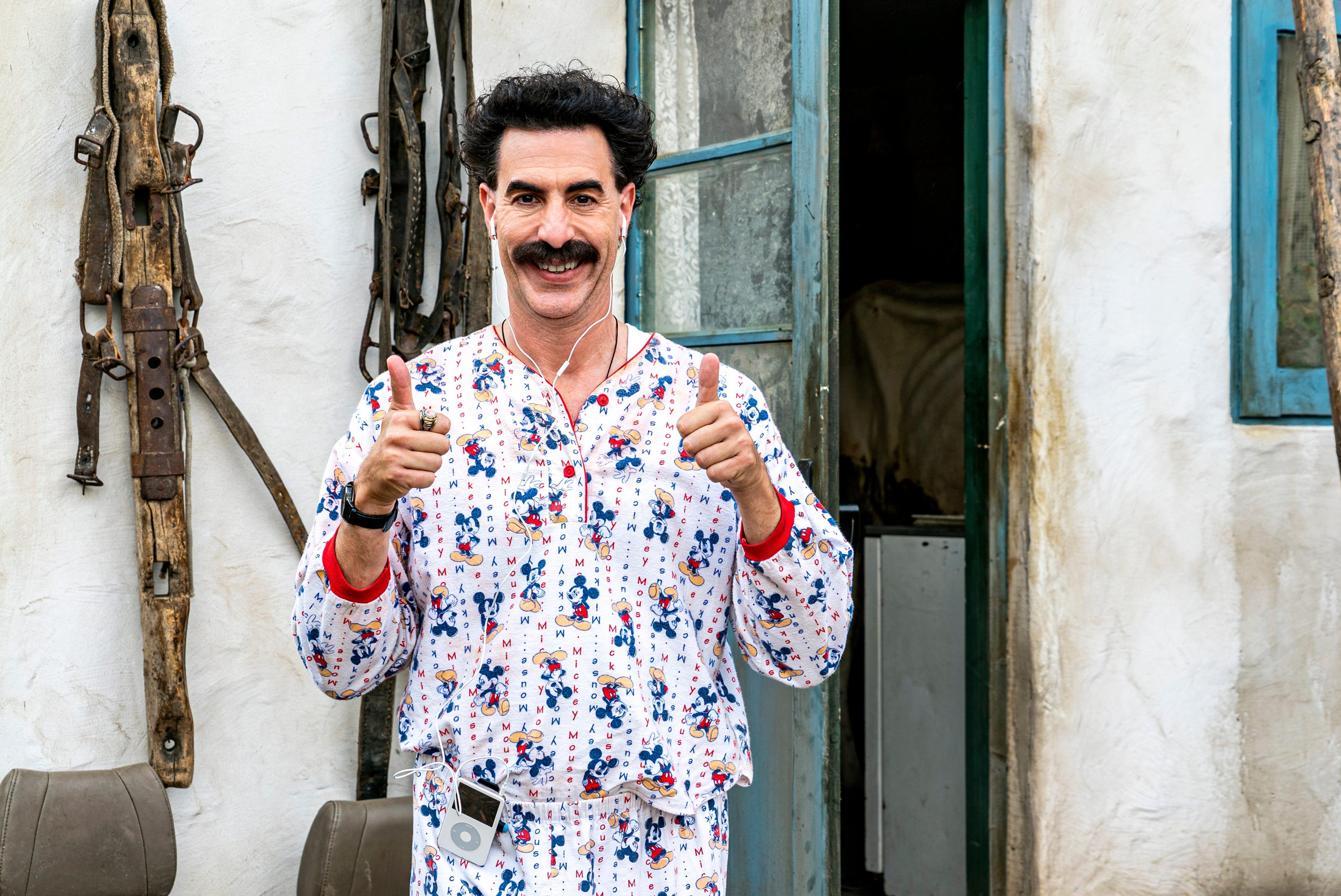 I here to defend America s mayor : Sacha Baron Cohen s Borat pokes at Rudy Giuliani, Trump online