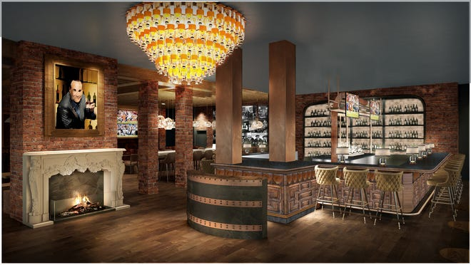 """The interior of Taffer's Tavern, a new restaurant founded by """"Bar rescue's"""" Jon Taffer"""