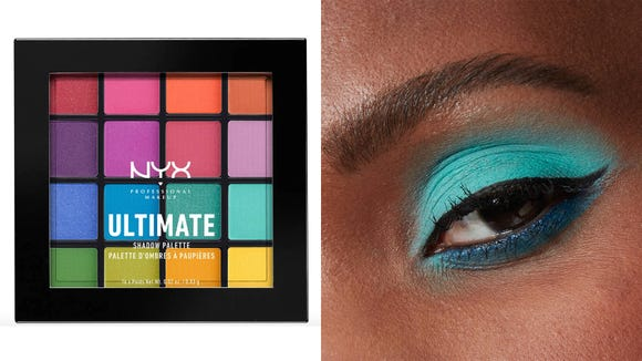 Best gifts for makeup lovers: NYX Professional Makeup Brights Ultimate Shadow Palette