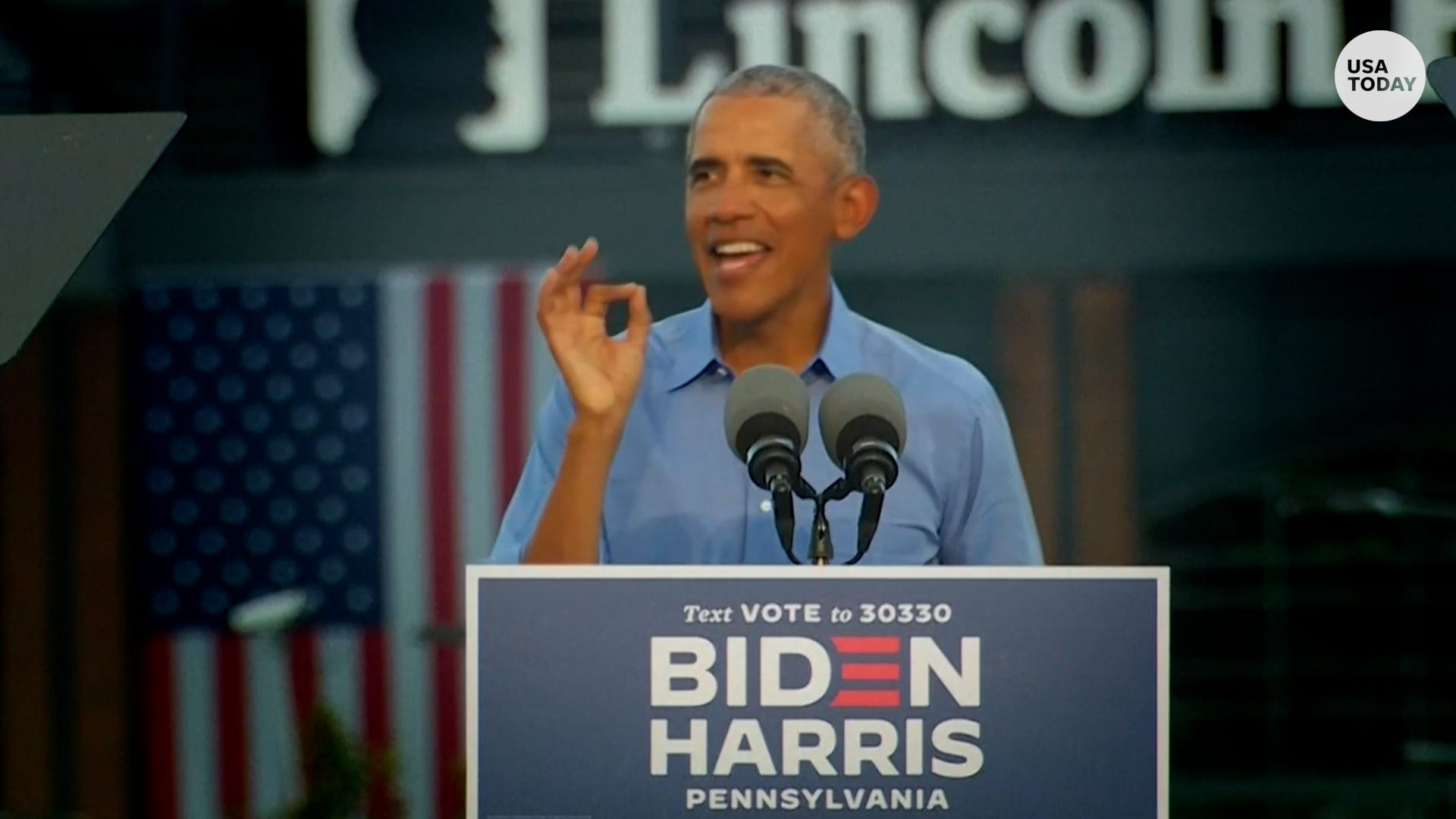 Obama, campaigns for Biden, mocks Pres. Trump's reported 'secret' Chinese bank accounts