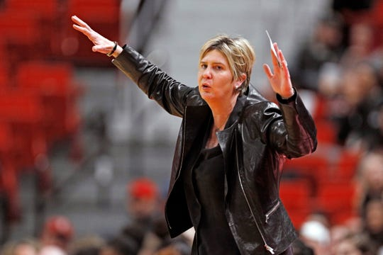 Marlene Stollings, seen here in February, has filed a lawsuit against Texas Tech.