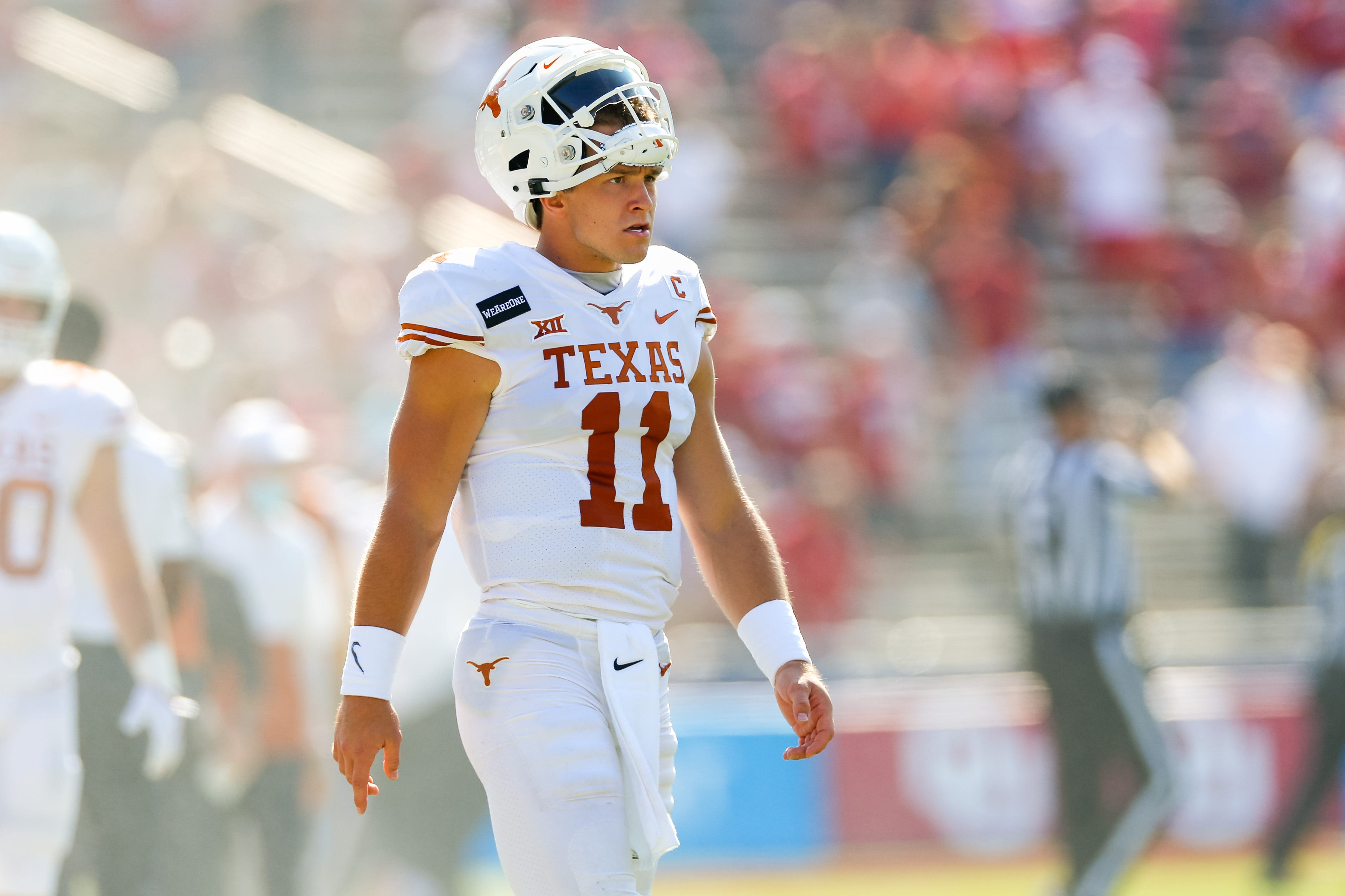 After a 'misunderstanding' in Dallas, Texas Longhorns QB Sam Ehlinger explains why he stayed for 'The Eyes of Texas'