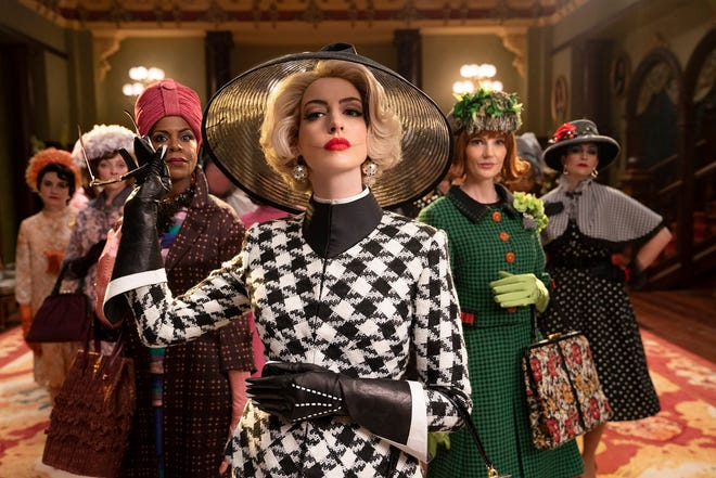 "Anne Hathaway, center, is Razzie-nominated for her villainous turn in ""The Witches."""