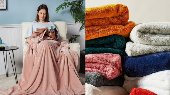 Snuggle up with top-rated throw blankets, pillows and more at Kohl's.