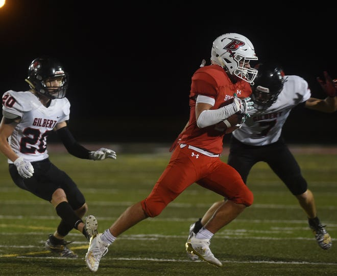 Mason Murphy is a dangerous weapon as a receiver and runner and also a big playmaker on defense for the Ballard football team. The Bombers (7-1) face Nevada (6-2) in the second round of the Class 3A playoffs Friday at Boone.