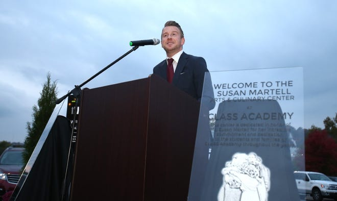 Jeremy G. Angus, CEO and principal of CLASS Academy, speaks during CLASS Academy's grand opening ceremony  Oct. 21.