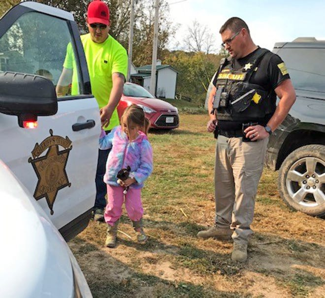 Children in the Prairie Home Parents as Teachers program got to sit in the car of Moniteau County Sheriff Deputy Jason Partin on Oct. 17 during a family outing to Eschenbrenner Farms Pumpkin Patch.