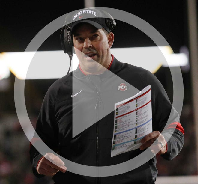 Ohio State head coach Ryan Day during the first quarter of the NCAA football game against the Northwestern Wildcats at Ryan Field in Evanston, Ill. on Friday, Oct. 18, 2019.