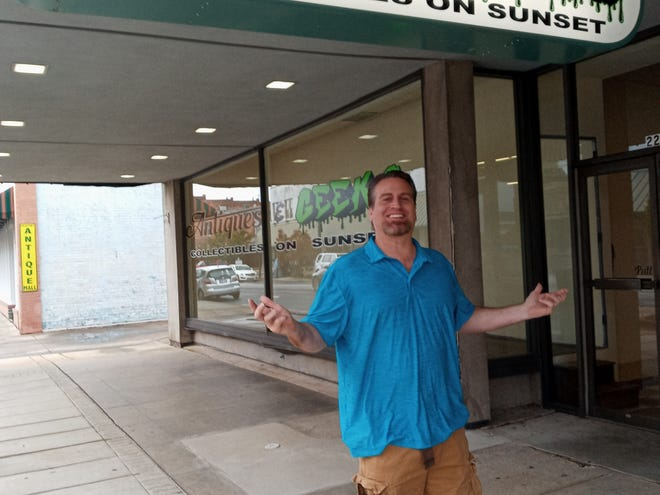Scott Resch is ready to open his collectibles store at 227 Sunset Ave.