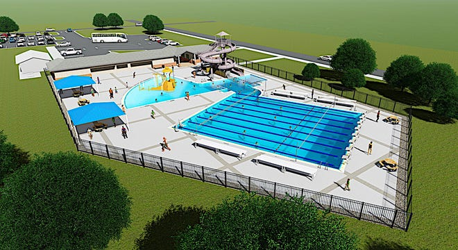 A rendering of Leesburg's new aquatic center. [COURTESY / CITY OF LEESBURG]