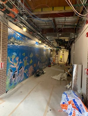 Major heating, electrical and plumbing upgrades at Grandview Elementary School, shown here in progress, are nearly finished. Half of the school's almost 700 students have been attending classes at the former Montessori Regional Charter School since classes began in August.