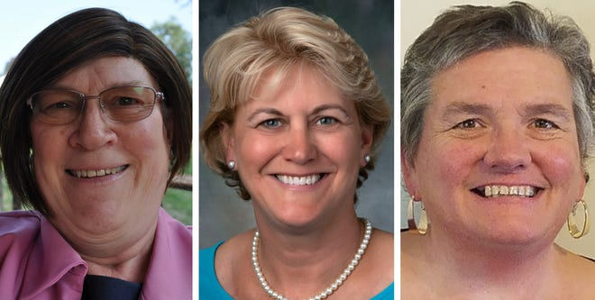 Incumbent Democratic state Reps., from left, Gerri Cannon, Wendy Chase and Cecilia Rich are seeking reelection to the three Strafford County District 18 seats representing Rollinsford and Somersworth Wards 1, 3, 4 and 5 in the New Hampshire House.