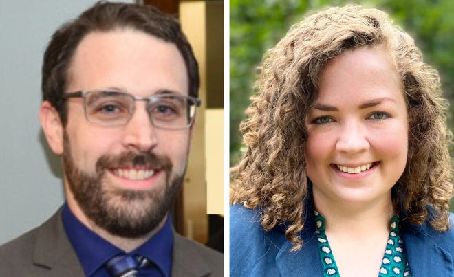 Republican Tyler Blouin, left, is facing Democrat Ariel Oxaal in the race for the Strafford County District 15 seat representing Dover Ward 3 in the New Hampshire House.