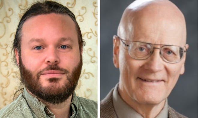 Republican William Burr, left, is challenging incumbent Democratic state Rep. Peter B. Schmidt for the Strafford County District 19 seat representing Dover Wards 1 and 2 in the New Hampshire House.
