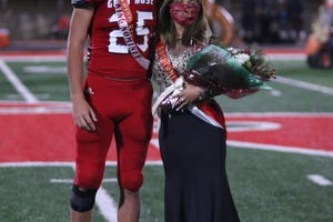 Glen Rose senior Lisna Flores was named the 2020 Glen Rose Homecoming Queen and Glen Rose senior Cory Aper was named the King at halftime of the Tigers' 40-0 victory over Hillsboro on Friday night.