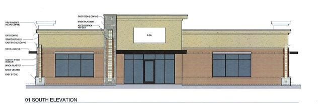 An artist rendering shows designs for a proposed medical office building along FM W. Travis Street in Sherman.