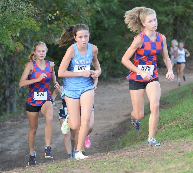 The Region 2-AAAAA Cross Country meet was held at Dorman High School on Oct. 21, 2020.    This was the girls run.