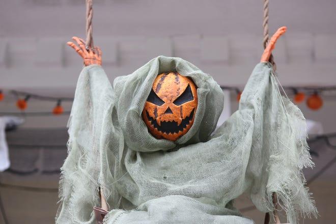 A Halloween display in Polk County.