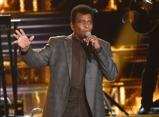 "Charley Pride performs ""Kiss An Angel Good Morning"" at the 50th annual CMA Awards in Nashville, Tenn. on Nov. 3, 2016. Pride will get a lifetime achievement award at the CMA Awards in November."