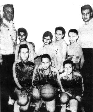 The 1955-56 Utica Boys' Club Elimination Basketball Tournament featured some great teams in its Midget Division, but when it was all over there was only one champion – the Excel Cleaners team sponsored by owner Al Mirante. Kneeling from left: Nick Vescio, Dick Antone and Art Nole. Standing from left: Coach Angelo Antone, Tom Rotundo, Anthony Sisti, John Nigro, Tom Casey and Assistant Coach Ralph Antone.