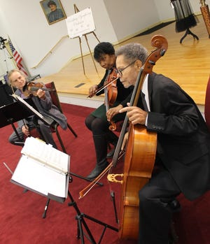 Members of the PSO String Quartet perform during the 'A Holiday Extravaganza Luncheon and Premiere Fashion Show' held at the Tabernacle Baptist Church in Petersburg in December of 2019.