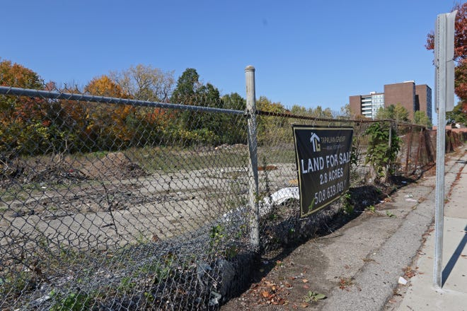 Shay DiPina envisions building Rumble Adventureland, a park for ATVs and dirtbikes. The site is a vacant 2.8 acre lot across from Mezzo, a restaurant on Charles St. [The Providence Journal / Sandor Bodo]