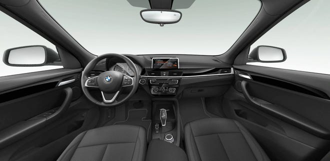The transmission of the the 2021 BMW X1 xDrive28i is eight-speed automatic with manual shift mode and all-wheel drive.
