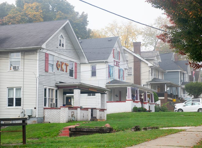 With Kent City Council's decision to enact an immediate on gatherings,  the city and Kent State will be notifying residents, students and groups, such as the fraternity houses pictured here on Main Street, of the ordinance'soutcomeand how to stay in compliance with its rules.