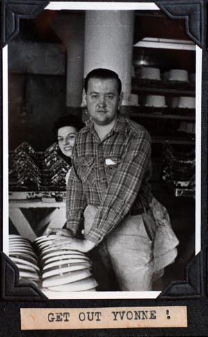 Charles Doyne Reese, shown here, shot and assembled more than 1,400 black and white photos, documenting his Canton workplace in the 1940s and 1950s.