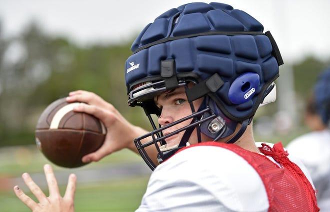 Zander Smith, a rising freshman, threw for 1,679 yards and 22 touchdowns as an eighth-grader at Bradenton Christian last season.