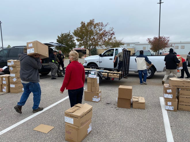 Emergency Management and volunteers delivered state PPE supplies to Pott. County school districts.