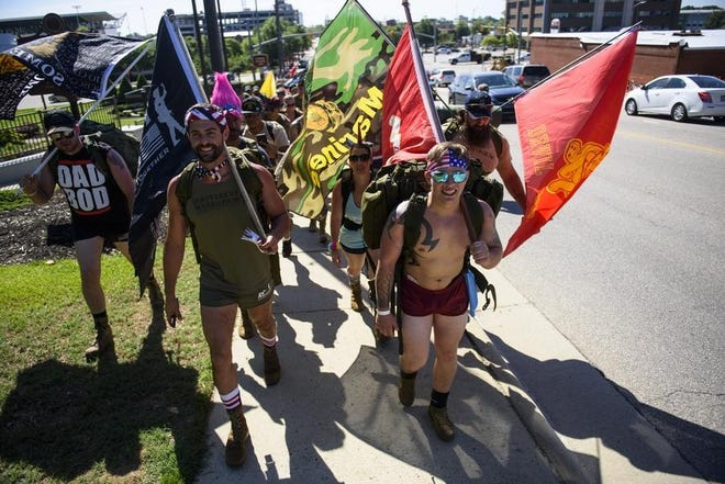 Hundreds of soldiers active and retired joined with Irreverent Warriors on June 15, 2019. The organization is returning to Fayetteville to host another Silkies Hike on Saturday, Oct. 24, 2020.