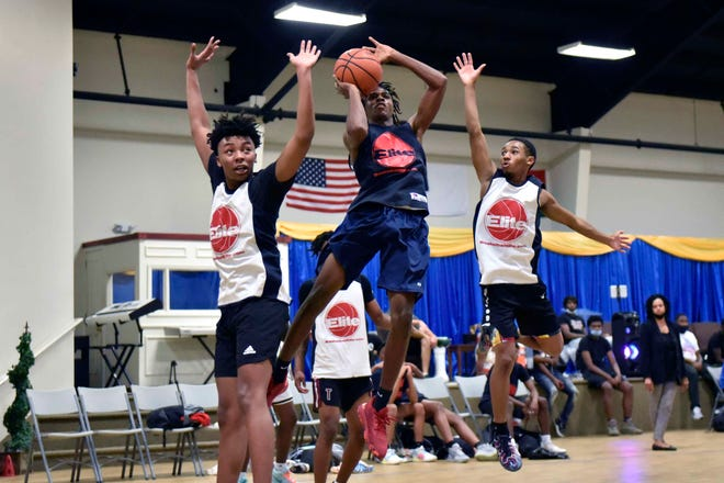The 9 Dime Fall League at New Life Christian Academy features eight teams with players representing Cumberland, Robeson and Richmond counties. The Bulldogs and Northside are seen here on Oct. 20, the final night of the regular season.